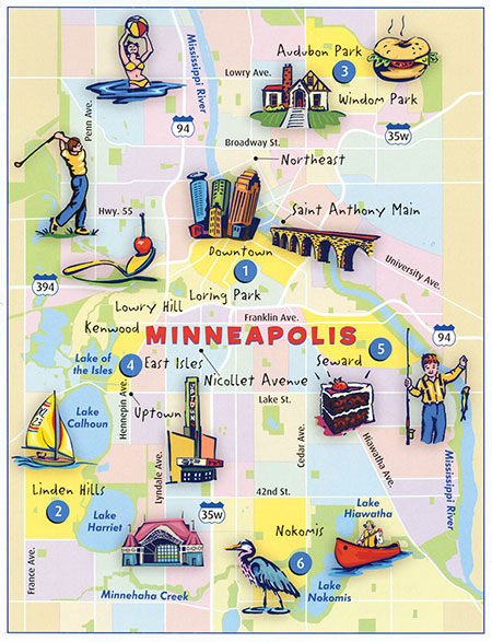 Map of Minneapolis by Map Hero, Inc.