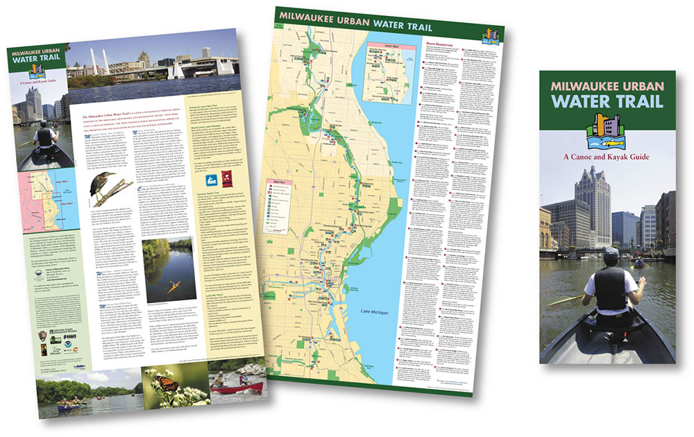 Map hero map illustration design milwaukee urban water trail map by map hero inc sciox Images