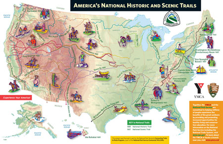 America's National Historic and Scenic Trails Map by Map Hero, Inc.
