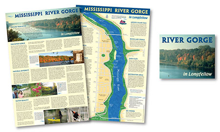 Street Mississippi River Gorge Folding Map by Map Hero, Inc.